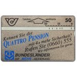 The Phonecard Shop: Austria, Quattro Pension, 50 units