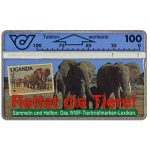 The Phonecard Shop: Austria, WWF, Elephants, 100 units