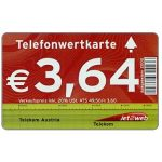 Phonecard for sale: New prices in euro, logo at right, € 3,64