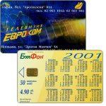 The Phonecard Shop: Bulgaria, Bulfon - Evrokom / calendar 2001, 50 units