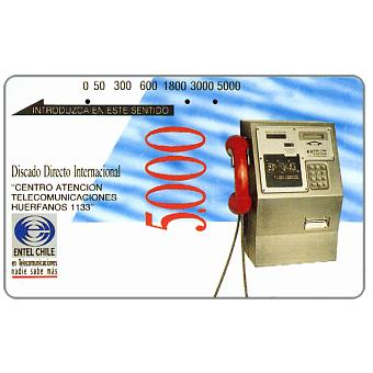 The Phonecard Shop: Chile, Entel - Public telephone, 5.000 units