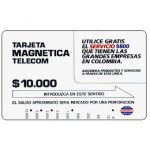 The Phonecard Shop: Colombia, Telecom - Service 9800, $10.000