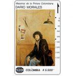 """The Phonecard Shop: Colombia, Telecom - Maestros de la Pintura Colombiana, Dario Morales, """"Autoretrato"""", $5.500"""