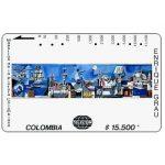 """The Phonecard Shop: Colombia, Telecom - Maestros de la Pintura Colombiana, Enrique Grau, """"Boceto Mural"""", $15.500"""