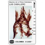 """The Phonecard Shop: Colombia, Telecom - Maestros de la Pintura Colombiana, Luis Caballero, """"Nude Male 1"""", $5.500"""