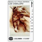 """The Phonecard Shop: Colombia, Telecom - Maestros de la Pintura Colombiana, Luis Caballero, """"Nude Male 2"""", $5.500"""