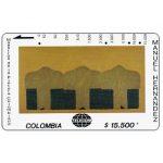"""The Phonecard Shop: Colombia, Telecom - Maestros de la Pintura Colombiana, Manuel Hernandez, """"Secuencia Alineada"""", $15.500"""