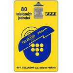 The Phonecard Shop: Telecom Praha logo, 80 units