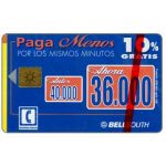 The Phonecard Shop: Bell South - 10% Gratis, S/.36.000