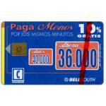 The Phonecard Shop: Ecuador, Bell South - 10% Gratis, S/.36.000