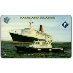 The Phonecard Shop: Falkland Islands, Cable & Wireless, Ship Queen Elizabeth II, 3CWFA, £7.50