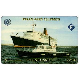Phonecard for sale: Cable & Wireless, Ship Queen Elizabeth II, 3CWFA, £7.50
