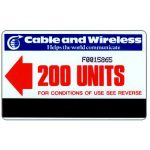 The Phonecard Shop: Cable & Wireless, red arrow, 200 units