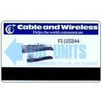 The Phonecard Shop: Cable & Wireless, pale Blue arrow, devalued card (CN: F0105844), 100 units