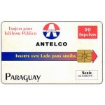 The Phonecard Shop: Antelco, Company Logo, 50 impulsos