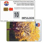 The Phonecard Shop: Paraguay, Antelco, National tree, Lapacho en flor, 10 impulsos