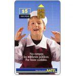 The Phonecard Shop: Uruguay, Antel, Children, shop-boy, $5