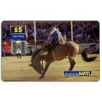 The Phonecard Shop: Uruguay, Antel, Rodeo, brown horse, $5