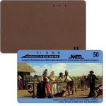 The Phonecard Shop: Uruguay, Antel, Painting by J.M.Blanes, brown back, 50 units