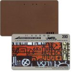 The Phonecard Shop: Uruguay, Antel, Painting by Torres Garcia Joaquin, brown back, 200 units