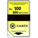 The Phonecard Shop: Venezuela, Trial card, band 15 mm., 800 units