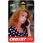 The Phonecard Shop: Croatia, Cronet GSM, girl at phone, 50 units