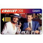 The Phonecard Shop: Croatia, Cronet GSM, man & woman at phone, 50 units