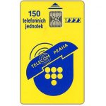 The Phonecard Shop: Telecom Praha logo, 150 units