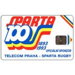 The Phonecard Shop: Czechoslovakia, Sparta 100 Rugby club, 100 units