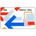 Phonecard for sale: KTAS - Arrows Puzzle version 2, 3KTSD, deep notch, 20kr