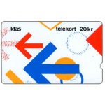 Phonecard for sale: KTAS - Arrows Puzzle version 2, 3KTSE, deep notch, 20kr