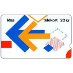 The Phonecard Shop: KTAS - Arrows Puzzle version 2, 3KTSH, deep notch, 20kr