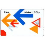 The Phonecard Shop: KTAS - Arrows Puzzle version 2, 3KTSJ, deep notch, 20kr