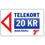 The Phonecard Shop: Jydsk Telefon - First issue, deep notch, 1JYDB, 20 kr