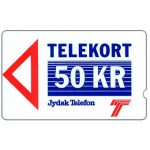 The Phonecard Shop: Denmark, Jydsk Telefon - First issue, deep notch, 1JYDC, 50 kr