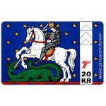 The Phonecard Shop: Denmark, Jydsk Telefon - Holstebro Coat-of-arms, 20 kr