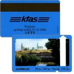 The Phonecard Shop: KTAS - Kronborg Castle, blue reverse, 100 kr