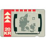 The Phonecard Shop: KTAS - Denmark map, 12.92, 20 kr
