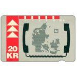 The Phonecard Shop: Denmark, KTAS - Denmark map, 12.92, 20 kr