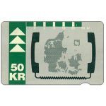 The Phonecard Shop: KTAS - Denmark map, 12.92, 50 kr