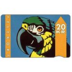 The Phonecard Shop: Denmark, KTAS - Parrot, type 1, 1.93, SN 1003, 20 kr