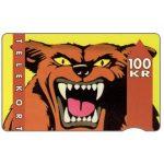 The Phonecard Shop: Denmark, KTAS - Wolf, 11.91, 100 kr