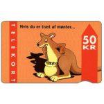The Phonecard Shop: Denmark, KTAS - Kangaroo, 9.93, 50 kr