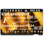 The Phonecard Shop: Denmark, KTAS - New International Codes, 100 kr