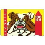 Phonecard for sale: Tele Sønderjylland - Bulldog, 02.92, 100 kr