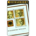 Phonecard for sale: Tele Sønderjylland - Stamps with German presidents, puzzle 2/2, 5 kr