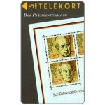 Phonecard for sale: Tele Sønderjylland - Stamps with German presidents, puzzle 1/2, 5 kr