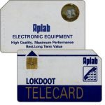 The Phonecard Shop: Telecard Lokdoot, grey, gold circle, no face value