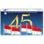 The Phonecard Shop: Indonesia, Perumtel Indosat - 45 years of Indonesia independence, 280 units