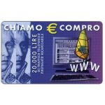 The Phonecard Shop: Italy, Albacom - Chiamo € Compro, 20.000 lire